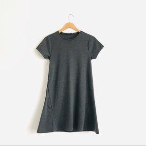 Zara Trafaluc Grey Shirt Dress Sz M